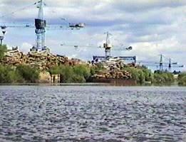 Речной порт в Березино.
